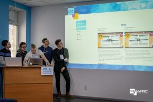 students presenting projects