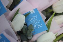 flowers and spd greeting card